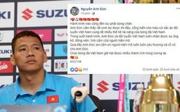 """""""Tỷ phú"""" Anh Đức úp mở khả năng chia tay đội tuyển Việt Nam sau dòng trạng thái ẩn ý"""