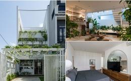 Ngôi nhà ở ngoại ô Sài Gòn thoáng mát với mặt tiền ấn tượng của gia đình 4 người