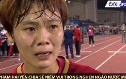 Nhận huy chương vàng SEA Games, nữ tuyển thủ Việt Nam bật khóc nghẹn ngào khi nghĩ về bà ngoại mới mất