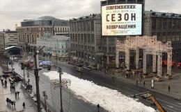 Ấm kỷ lục, thủ đô Moskva dùng tuyết nhân tạo mừng Năm mới