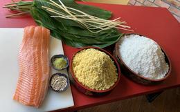 Thịt lợn đắt đỏ, người Hà Nội gói bánh chưng trà xanh nhân cá hồi bán Tết