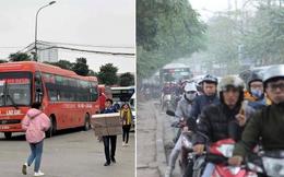 Bến xe vắng vẻ lạ thường, đường phố Thủ đô ùn ứ ngày 27 Tết
