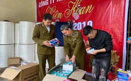 Niêm phong máy móc, hàng hóa của DN dùng giấy vệ sinh sản xuất khẩu trang