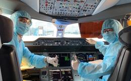 """[Ảnh] Bên trong những chuyến bay Vietnam Airlines trở về từ """"tâm dịch"""" châu Âu"""