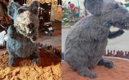 """Hình ảnh linh vật chuột mình đầy lông lá chưng Tết ở Củ Chi khiến bất kì chú mèo nào nhìn thấy cũng phải """"khóc thét"""""""