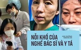 Nhìn loạt ảnh mặt biến dạng do đeo khẩu trang, phải cắt tóc, mặc bỉm cả ngày... của đội y tá, bác sĩ ở Vũ Hán để thấy ngành này khổ thế nào