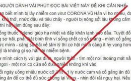 Nam thanh niên đăng tin sai sự thật về cách chữa dịch Covid-19 trên mạng xã hội bị phạt 12,5 triệu