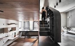 """Căn hộ 46m² chật chội được bổ sung nội thất đa chức năng bỗng có """"vô vàn"""" chỗ để lưu trữ"""