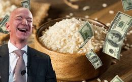 Tik Toker dùng hàng chục nghìn hạt gạo để giúp bạn hiểu tỷ phú Jeff Bezos giàu tới mức độ kinh khủng khiếp như thế nào
