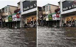 Ảnh và clip: Nhiều tuyến phố Hà Nội rơi vào tình trạng ngập sau trận mưa lớn lúc 2 giờ chiều