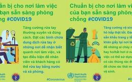 Tổ chức Y tế Thế giới (WHO) phối hợp với Bộ Y tế đưa ra những lưu ý cần thiết khi đi làm để phòng chống COVID-19