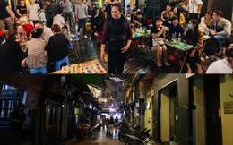 Khung cảnh vắng lặng ở phố Tây Tạ Hiện sau khi chính quyền Hà Nội yêu cầu đóng cửa các quán bar, karoke phòng dịch Covid-19
