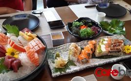 Một nhà hàng Nhật Bản tại Hà Nội phục vụ tía tô xanh 700 đồng/lá, Sashimi gần 5 triệu đồng/set