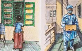 DHS Anh vẽ khu cách ly xinh xẻo như trong truyện tranh: Ở đâu cũng đẹp, miễn là mình còn yêu đời!