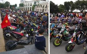 """Nghỉ học tránh dịch Covid-19, học sinh Nam Định tụ tập hàng trăm người off team """"xe đạp điện"""" gây phẫn nộ"""