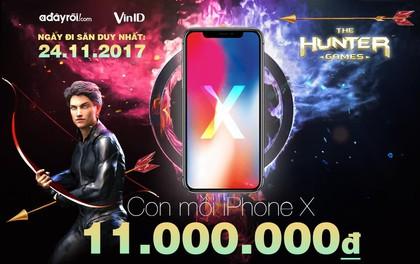 Cuộc săn Iphone X 11 triệu cho chủ thẻ VinID trên Adayroi.com