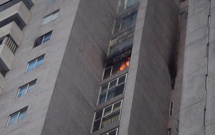 Hà Nội: Cháy tại toà chung cư CT3 Bắc Hà trên đường Nguyễn Trãi